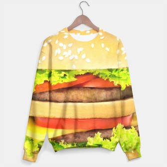 Thumbnail image of Hamburger sweater, Live Heroes