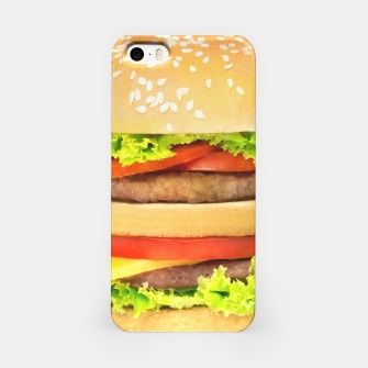 Miniatur Hamburger iPhone Case, Live Heroes