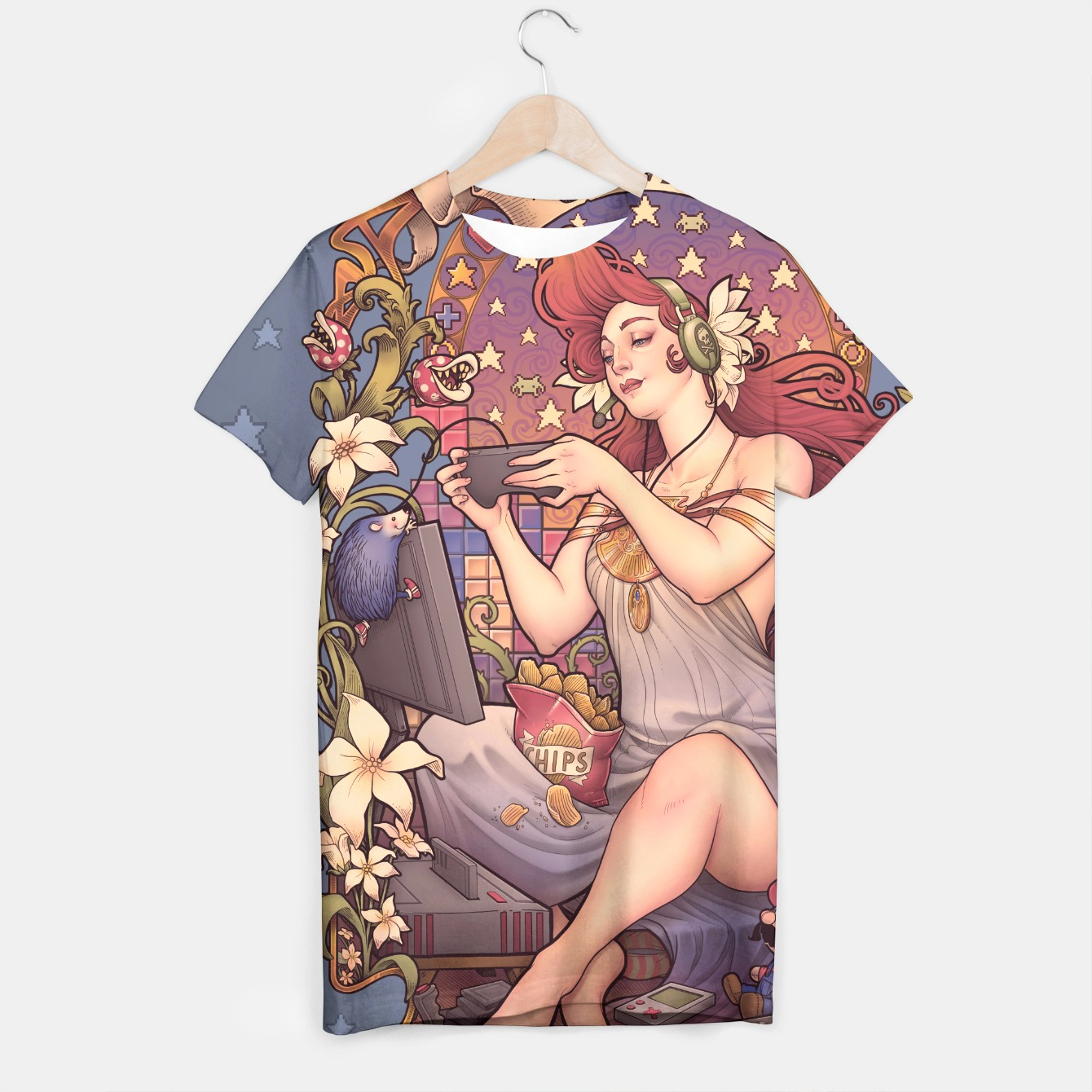 Image of Gmer Girl Nouveau T-shirt - Live Heroes