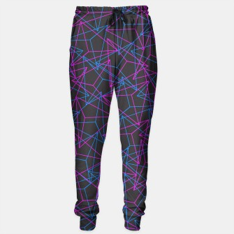 Thumbnail image of Abstract Geometric 3D Triangle Pattern in Blue / Pink Sweatpants, Live Heroes