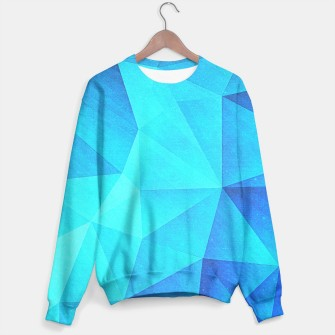 Thumbnail image of Abstract Polygon Multi Color Cubizm Painting in ice blue, Live Heroes