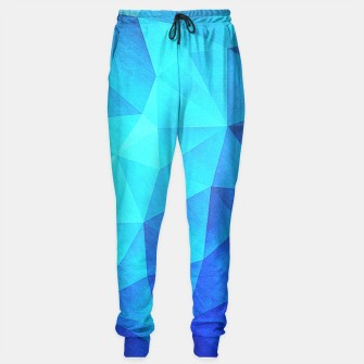 Thumbnail image of Abstract Polygon Multi Color Cubizm Painting in ice blue Sweatpants, Live Heroes