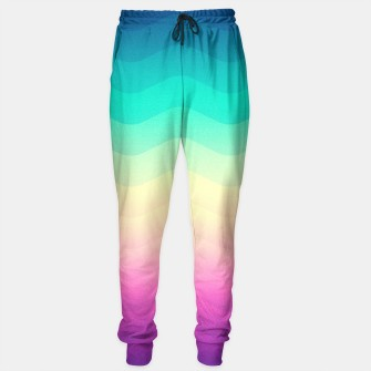 Thumbnail image of Abstract Geometric  Candy / Rainbow Waves Pattern (Multi Color) Sweatpants, Live Heroes