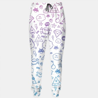Thumbnail image of Funny & Cute Monster / Skull / kawaii pattern in pink blue, Live Heroes