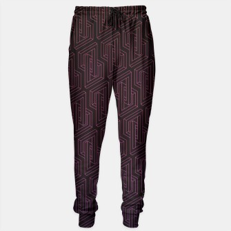 Thumbnail image of Geometric Illusion pattern in deep red Sweatpants, Live Heroes