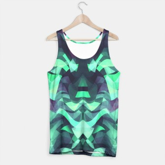 Abstract Surreal Chaos theory in Modern poison turquoise green Tank Top thumbnail image