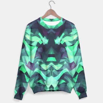 Abstract Surreal Chaos theory in Modern poison turquoise green Sweater thumbnail image