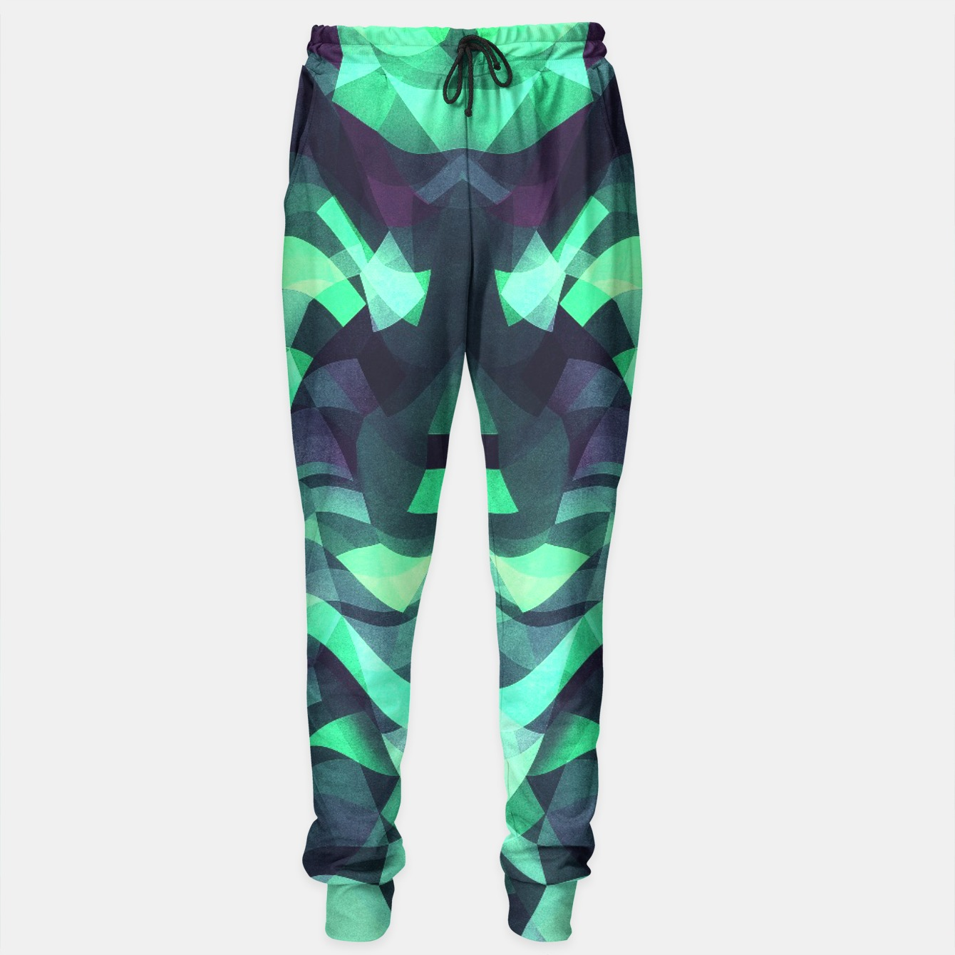 Image of Abstract Surreal Chaos theory in Modern poison turquoise green Sweatpants - Live Heroes