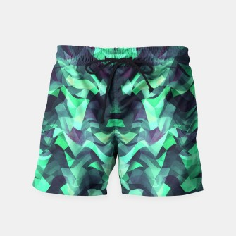 Miniature de image de Abstract Surreal Chaos theory in Modern poison turquoise green Swim Shorts, Live Heroes