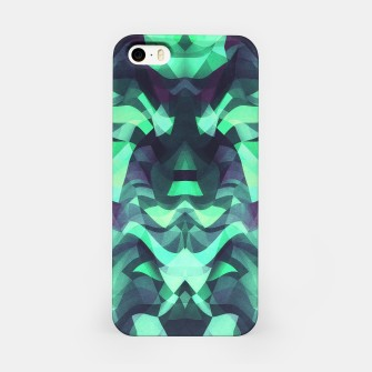 Abstract Surreal Chaos theory in Modern poison turquoise green iPhone Case thumbnail image