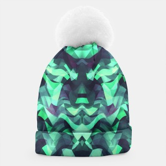 Abstract Surreal Chaos theory in Modern poison turquoise green Beanie thumbnail image