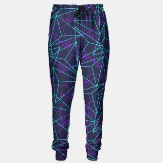 Thumbnail image of Abstract Geometric 3D Triangle Pattern in  turquoise/ purple  Sweatpants, Live Heroes