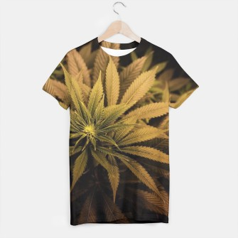 Thumbnail image of brown variant weed t-shirt, Live Heroes