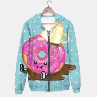 Thumbnail image of Kawaii Clumsy Donut Hoodie, Live Heroes