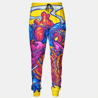 Thumbnail image of BUSTED HEART sweatpants, Live Heroes