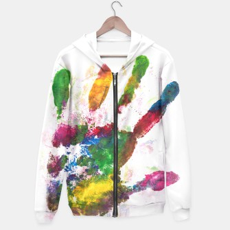 Thumbnail image of Hand stanchion hoodie, Live Heroes