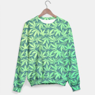 Thumbnail image of Cannabis Dope Weed / Hemp Leaf Pattern Design Sweater, Live Heroes