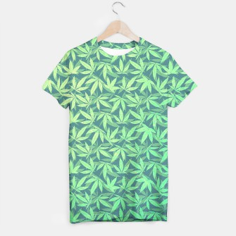 Thumbnail image of Cannabis Dope Weed / Hemp Leaf Pattern Design T-shirt, Live Heroes