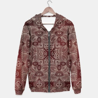 Thumbnail image of Red Silvery Doodle Hoodie, Live Heroes