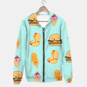 Thumbnail image of Kawaii Happy Junk Food Hoodie, Live Heroes
