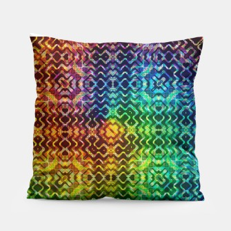 Thumbnail image of Tribal Rainbow Fusion Pillow, Live Heroes