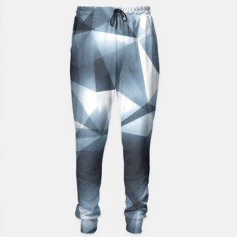 Thumbnail image of Abstract geometric triangle pattern ( Carol Cubism Style) in ice silver - gray Sweatpants, Live Heroes