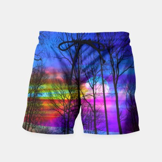 Thumbnail image of colorful moon Swim Shorts, Live Heroes