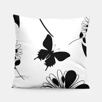 Miniatur Butterfly Silhouette Pillow , Live Heroes