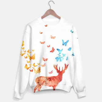 Thumbnail image of Deer and Butterflies Sweater, Live Heroes
