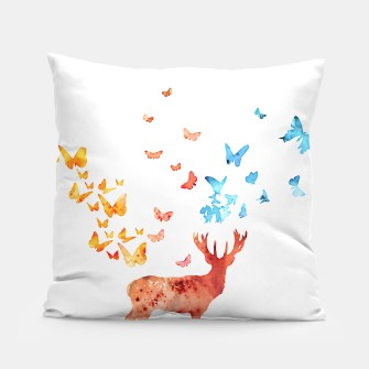 Thumbnail image of Deer and Butterflies Pillow, Live Heroes