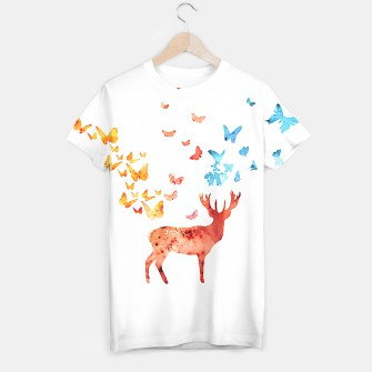Thumbnail image of Deer and Butterflies T-shirt, Live Heroes