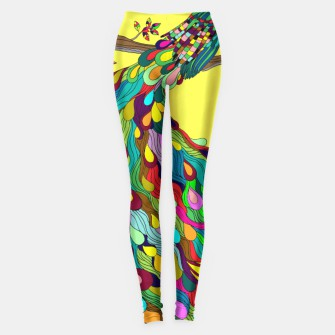 Thumbnail image of Colorful Peacock Legging, Live Heroes