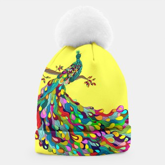 Thumbnail image of Colorful Peacock Beanie, Live Heroes