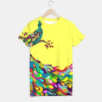 Thumbnail image of Colorful Peacock T-shirt, Live Heroes