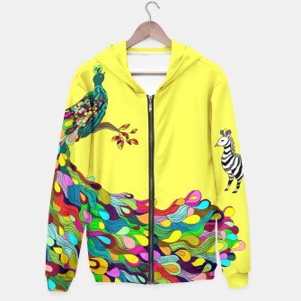 Thumbnail image of Colorful Peacock Hoodie, Live Heroes