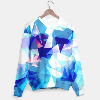 Bluish polygons Sweater miniature