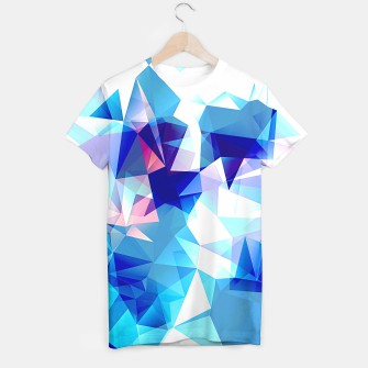 Bluish polygons T-shirt miniature