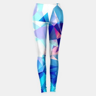 Bluish polygons Leggings miniature