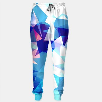 Bluish polygons Sweatpants miniature