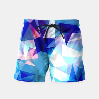 Bluish polygons Swim Shorts miniature