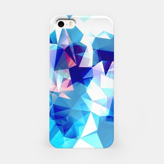 Bluish polygons iPhone Case miniature