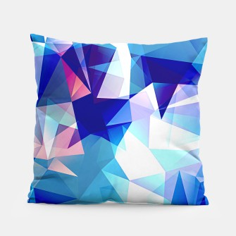 Bluish polygons Pillow miniature