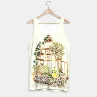 Thumbnail image of Flowery Birdcage Tank Top, Live Heroes