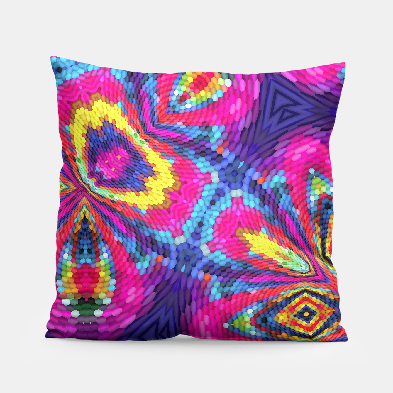 Image of Colorful Pattern Pillow - Live Heroes
