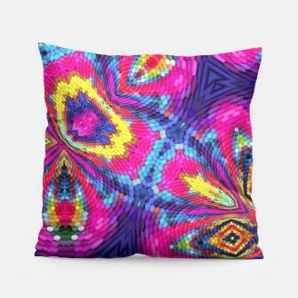 Thumbnail image of Colorful Pattern Pillow, Live Heroes
