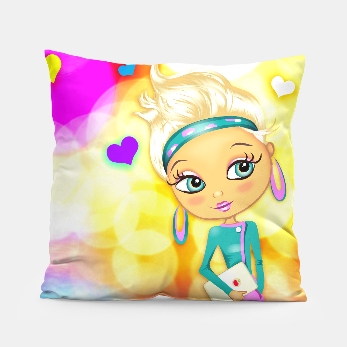 Image of Big Eyes Girl Pillow - Live Heroes
