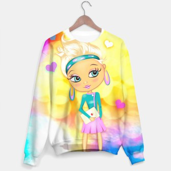 Thumbnail image of illustrart big eyes sweater, Live Heroes