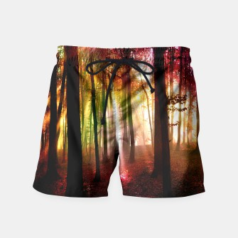 Thumbnail image of forest swim shorts, Live Heroes