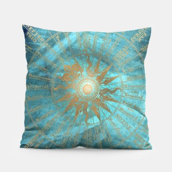 Thumbnail image of Wind Rose Map pillow, Live Heroes
