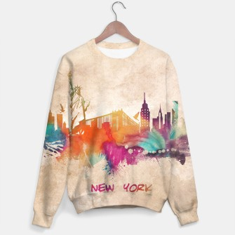 Thumbnail image of New York city skyline sweater, Live Heroes